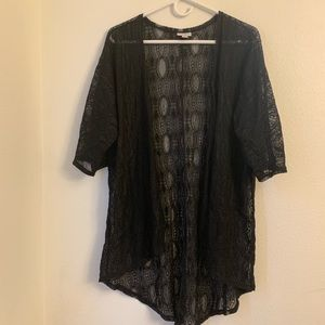 Small solid black lace Lularoe Lindsay